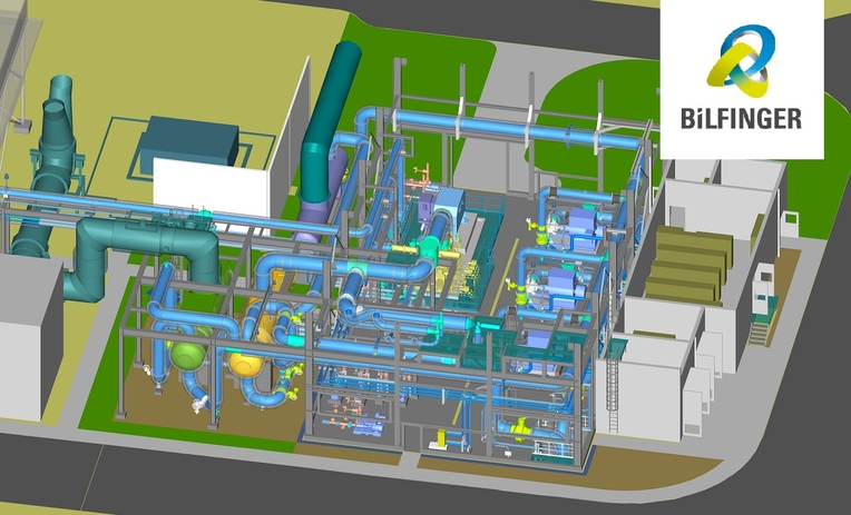 Bilfinger sets up a district heat station at MVV's co-generation plant in Mannheim.